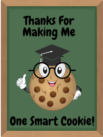 graphic about You're One Smart Cookie Printable called Wise Cookie Trainer Present - Totally free Printable - Juggling Such as A